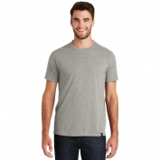 New Era NEA100 Heritage Blend Crew Tee - Rainstorm Grey Heather