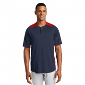 New Era NEA221 Diamond Era 2-Button Jersey/Scarlet