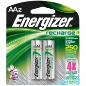 Energizer Rechargeable AA Batteries 2-pack