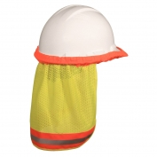 Radians NSG Self Extinguishing Hard Hat Neck Shade - Yellow/Lime