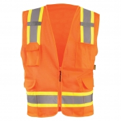 OccuNomix ECO-ATRNSM Value Mesh Two-Tone Surveyor Safety Vest - Orange