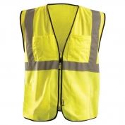 OccuNomix ECO-GCS Type R Class 2 Value Mesh Surveyor Safety Vest - Yellow/Lime