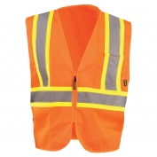 OccuNomix ECO-IM2TZ Type R Class 2 Value Mesh Two-Tone Safety Vest - Orange