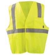 OccuNomix ECO-IMB 5 Point Breakaway Mesh Safety Vest - Yellow/Lime