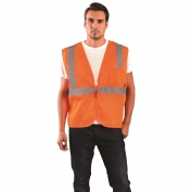 OccuNomix ECO-IMZ Type R Class 2 Value Mesh Safety Vest with Zipper - Orange