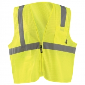 OccuNomix ECO-IMZ Type R Class 2 Value Mesh Safety Vest with Zipper - Yellow/Lime