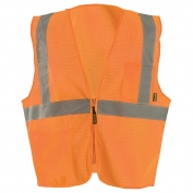 OccuNomix ECO-IMZX Type R Class 2 Value X-Back Mesh Safety Vest - Orange