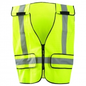 OccuNomix LUX-PS-DOR Type P Class 2 DOR Mesh Public Plain Safety Vest - Yellow/Black