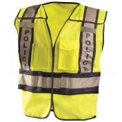 OccuNomix LUX-PSP ANSI 207 Solid Public Police Safety Vest - Yellow/Black