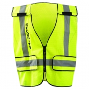 OccuNomix LUX-PSSE-DOR Type P Class 2 DOR Mesh Public Security Safety Vest - Yellow/Black