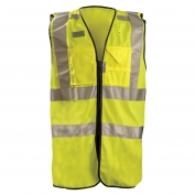 OccuNomix LUX-SSFULLZ Type R Class 2 Premium Dielectric Solid Surveyor Safety Vest