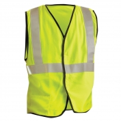 OccuNomix LUX-SSG/FR Type R Class 2 Premium Solid FR Safety Vest - Yellow/Lime