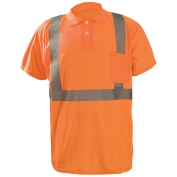 OccuNomix LUX-SSPP2B Class 2 Wicking Birdseye Safety Polo - Orange