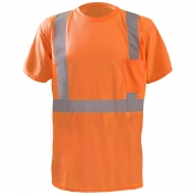 OccuNomix LUX-SSTP2BX Class 2 X-Back Wicking Birdseye Safety T-Shirt - Orange