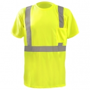 OccuNomix LUX-SSTP2BX Class 2 X-Back Wicking Birdseye Safety T-Shirt - Yellow/Lime