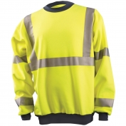 OccuNomix LUX-SWT3 Class 3 Moisture Wicking Safety Sweatshirt - Yellow/Lime