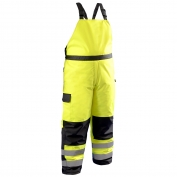 OccuNomix LUX-WBIB Class E Cold Weather Bib Pants - Yellow/Black