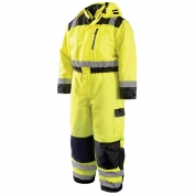 OccuNomix LUX-WCVL Type R Class 3 Cold Weather Coveralls - Yellow/Black