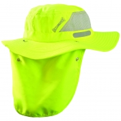 OccuNomix TD500 Wicking & Cooling Ranger Hat w/ Neck Shade - High Viz Yellow