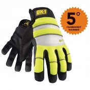 OK-1 IG300 Waterproof Winter Gloves - Yellow/Lime
