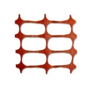 Resinet Economy Crowd Control Barrier Fence - Orange- 4 ft x 300 ft