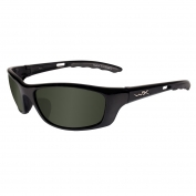 Wiley X P-17 Sunglasses - Gloss Black Frame - Polarized Green Lens