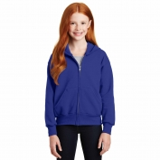 Hanes P480 Youth EcoSmart Full-Zip Hooded Sweatshirt