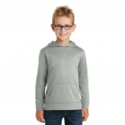 Port & Company PC590YH Youth Performance Fleece Pullover Hooded Sweatshirt - Charcoal