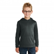 Port & Company PC590YH Youth Performance Fleece Pullover Hooded Sweatshirt - Jet Black