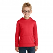 Port & Company PC590YH Youth Performance Fleece Pullover Hooded Sweatshirt - Red