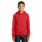 Port & Company PC850YH Youth Fan Favorite Fleece Pullover Hooded Sweatshirt - Bright Red