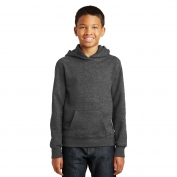 Port & Company PC850YH Youth Fan Favorite Fleece Pullover Hooded Sweatshirt - Dark Heather Grey