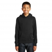 Port & Company PC850YH Youth Fan Favorite Fleece Pullover Hooded Sweatshirt - Jet Black