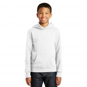 Port & Company PC850YH Youth Fan Favorite Fleece Pullover Hooded Sweatshirt - White