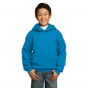 Port & Company PC90YH Youth Pullover Hooded Sweatshirt - Sapphire