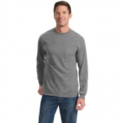 Port & Company PC61LSPT Tall Long Sleeve Essential T-Shirt with Pocket