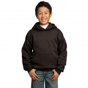 Port & Company PC90YH Youth Pullover Hooded Sweatshirt - Dark Chocolate Brown