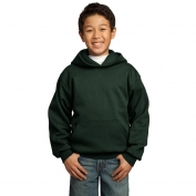 Port & Company PC90YH Youth Pullover Hooded Sweatshirt - Dark Green