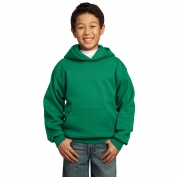 Port & Company PC90YH Youth Pullover Hooded Sweatshirt - Kelly Green