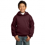 Port & Company PC90YH Youth Pullover Hooded Sweatshirt - Maroon