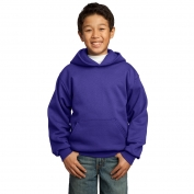 Port & Company PC90YH Youth Pullover Hooded Sweatshirt - Purple