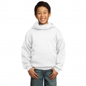 Port & Company PC90YH Youth Pullover Hooded Sweatshirt - White