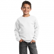 Port & Company PC90Y Youth Crewneck Sweatshirt - White