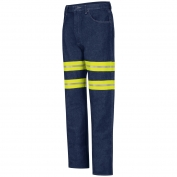 Red Kap PD60ED Enhanced Visibility Relaxed Fit Jeans - Navy