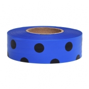 Presco PDBBK Polka Dot Roll Flagging Tape - Blue/Black