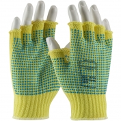 PIP 08-K259PDD Kut-Gard Seamless Knit Kevlar Gloves with Double-Sided PVC Dot Grip - Half-Finger