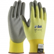 PIP 09-K1250 G-Tek KEV Seamless Knit Kevlar/Lycra Gloves - Polyurethane Coated Smooth Grip on Palm & Fingers