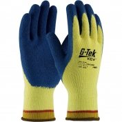 PIP 09-K1300 G-Tek KEV Seamless Knit Kevlar Gloves - Latex Coated Crinkle Grip on Palms & Fingers