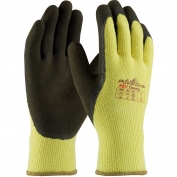 PIP 09-K1350 PowerGrab KEV Thermo Seamless Knit Kevlar/Acrylic Gloves - Latex Coated MicroFinish Grip on Palm & Fingers