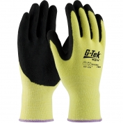 PIP 09-K1660 G-Tek KEV Seamless Knit Kevlar Gloves - Nitrile Coated MicroFinish Grip on Palm & Fingers - Medium Weight